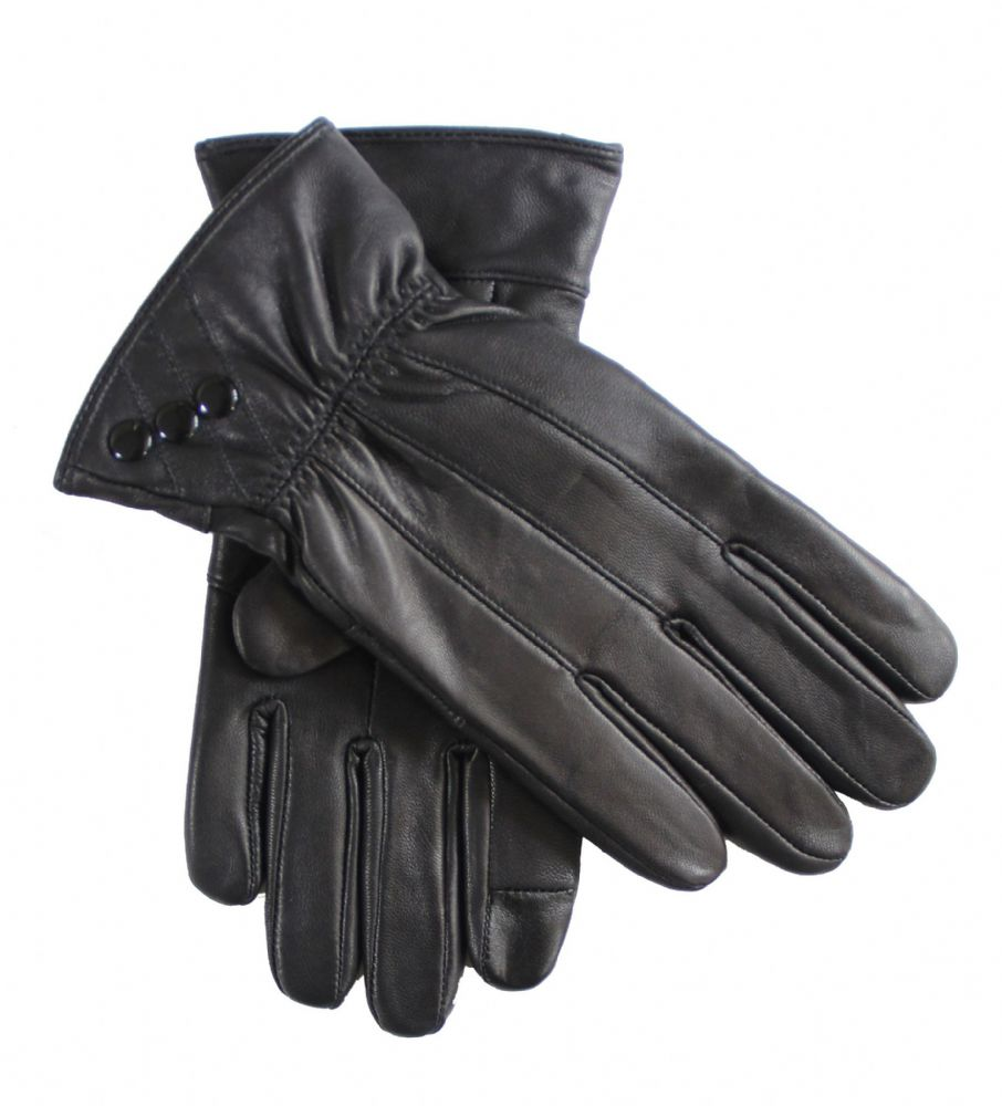 Ladies leather touch gloves winter gloves .